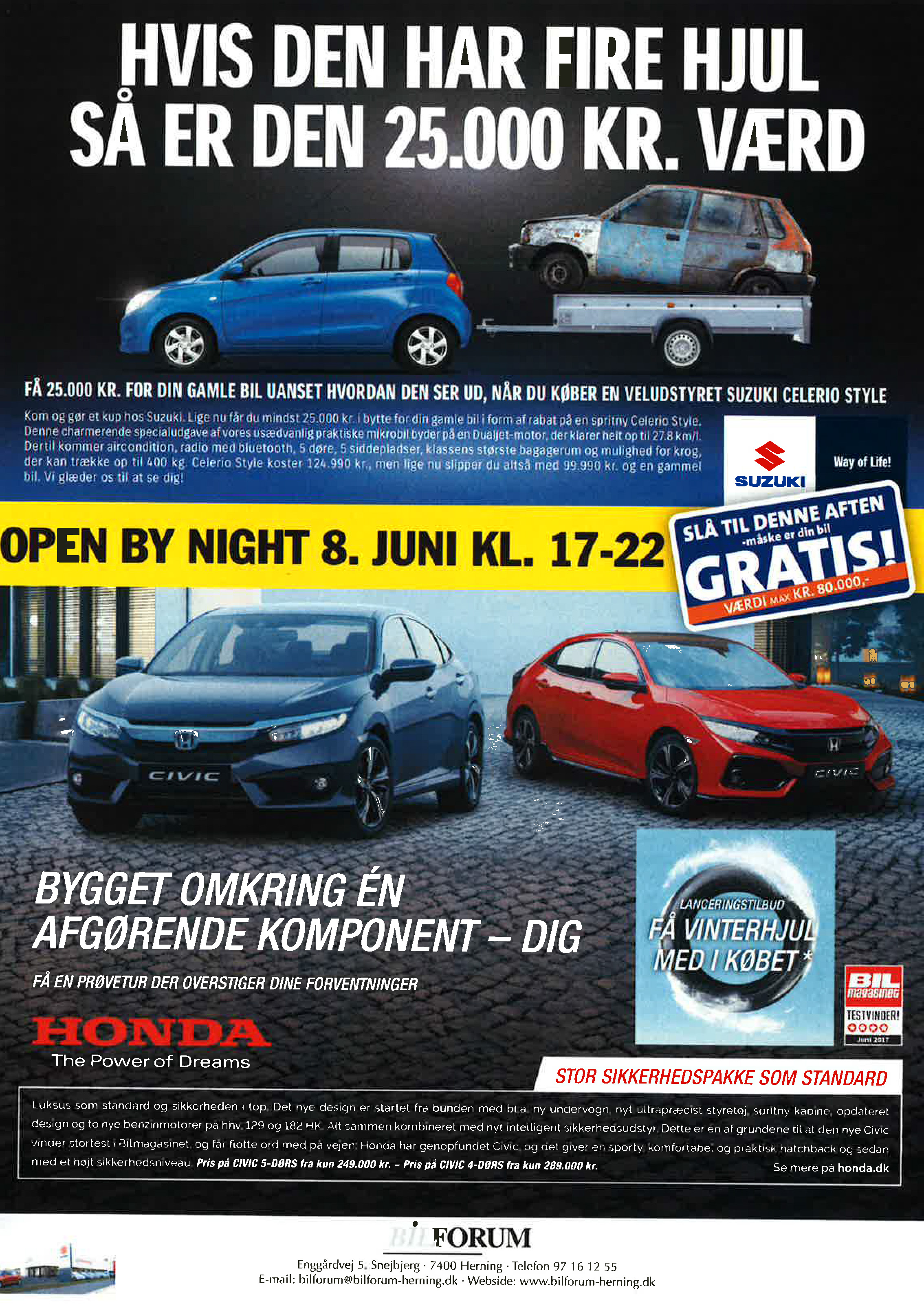 Open By Night 8 Juni